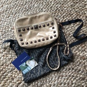 Rebecca Minkoff Camel Tan chain crossbody purse